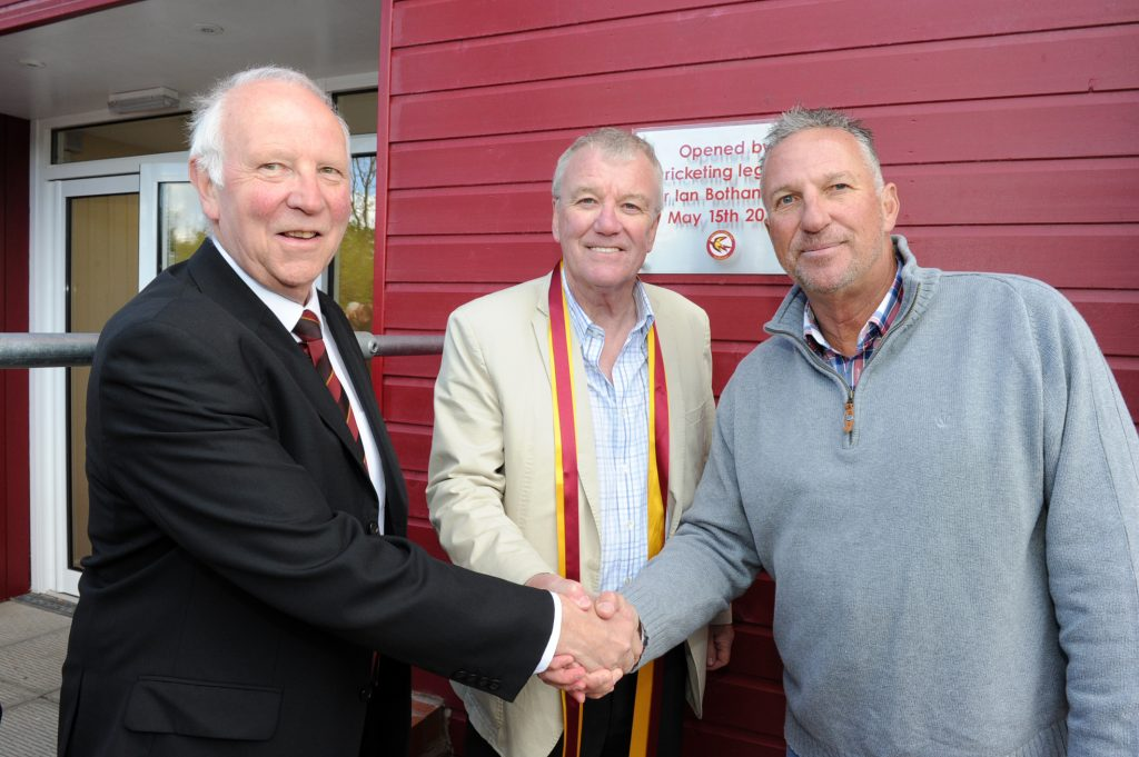 Fordhouses cricket club opening Ian Botham